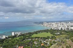 Vista da Diamond Head Crater Immagini Stock