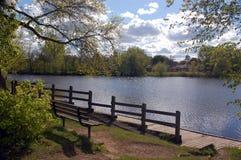 Vista da doca no lago feericamente Imagens de Stock Royalty Free