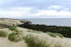 Vista da duna de Agilis Imagens de Stock