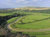 Vista da elevação e sobre, Sussex do leste, Inglaterra, Reino Unido imagens de stock royalty free