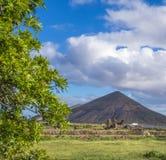 Vista da Espanha das ilhas de Oliva Fuerteventura Las Palmas Canary do La da montanha Imagem de Stock Royalty Free