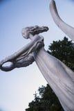 Vista da estátua de uma menina Foto de Stock Royalty Free