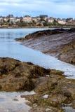 Vista da estância turística francesa famosa Dinard Fotos de Stock Royalty Free