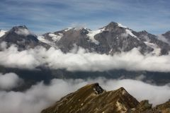 Vista da estrada alpina Fotografia de Stock Royalty Free