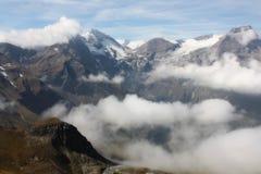 Vista da estrada alpina Fotos de Stock Royalty Free