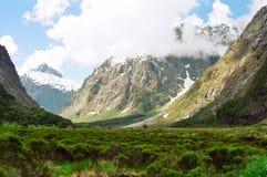 Vista da estrada de Te Anau Milford Imagens de Stock