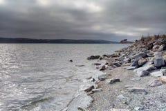 Vista da estrada do Oceano Pacífico e da Costa do Pacífico imagens de stock