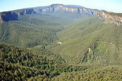 Vista da Evans Lookout nelle montagne blu, Australia Immagine Stock Libera da Diritti