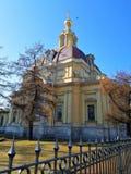 Vista da fachada do Churche fotografia de stock royalty free