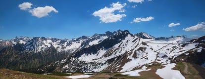 Vista da fellhorn alla sommità del kanzelwand, Baviera delle alpi di allgau Fotografia Stock Libera da Diritti