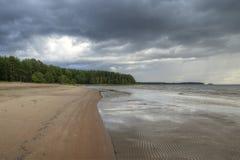 Vista da floresta do golfo e da praia estéril Foto de Stock Royalty Free