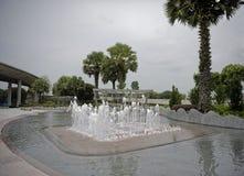 Vista da fonte em Marina Barrage fotos de stock royalty free