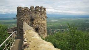 Vista da fortaleza antiga em Sighnaghi, Geórgia video estoque