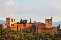 Vista da fortaleza de Alkhambr Foto de Stock Royalty Free