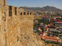 Vista da fortaleza de Genoa na cidade Foto de Stock