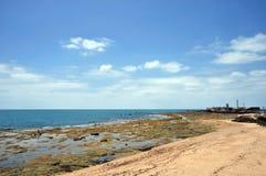 Vista da fortaleza de San Sebastian em Cadiz Imagem de Stock