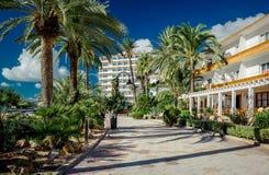Vista da frente marítima de Ibiza fotos de stock royalty free