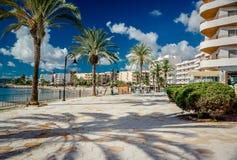 Vista da frente marítima de Ibiza foto de stock royalty free