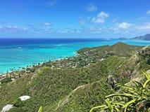 Vista da fuga da caixinha de comprimidos, Oahu, Havaí Imagens de Stock Royalty Free