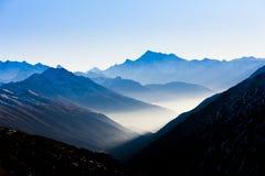 Vista da Furkapass, Svizzera Immagine Stock