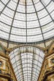 Vista da galeria de Emanuele do vittorio em Milão, Italia Fotos de Stock