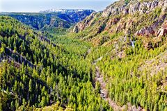 Vista da garganta da angra do carvalho, norte de Sedona Imagens de Stock Royalty Free