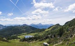 Vista da Gartnerkofel a Julian Alps in Italia di estate Immagine Stock Libera da Diritti