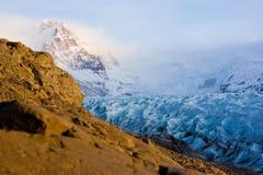 Vista da geleira de Vatnajokull fotos de stock royalty free