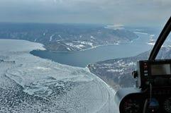 Vista da helecopter fotografia stock