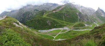 Vista da Hintertux, Tuxertal, Innsbruck, Austria Fotografie Stock
