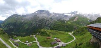 Vista da Hintertux, Tuxertal, Innsbruck, Austria Fotografia Stock Libera da Diritti