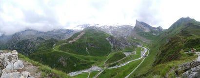 Vista da Hintertux, Tuxertal, Innsbruck, Austria Fotografie Stock Libere da Diritti