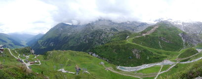 Vista da Hintertux, Tuxertal, Innsbruck, Austria Immagine Stock Libera da Diritti