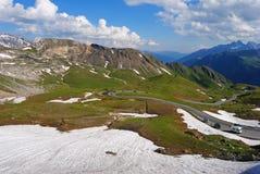 Vista da Hochtor in alpi austriache Fotografie Stock