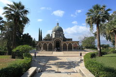 Vista da igreja das beatitudes, Israel Imagens de Stock Royalty Free