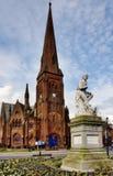 Igreja de Greyfriars e estátua das queimaduras de Robbie fotografia de stock royalty free