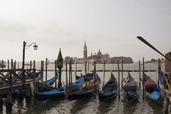 Vista da igreja de San Giorgio Maggiore foto de stock