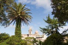 Vista da igreja de San Giuliano em Erice Fotografia de Stock