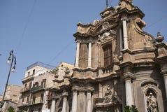 Vista da igreja de Sant Anna la Misericordia foto de stock