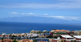 Vista da ilha de Gomera do La, Tenerife, Ilhas Canárias fotos de stock royalty free