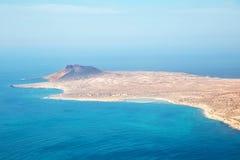 Vista da ilha de Graciosa Fotografia de Stock Royalty Free