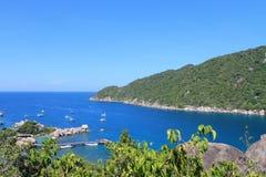 Vista da ilha de Nangyuan Foto de Stock