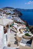 Vista da ilha de Santorini fotos de stock