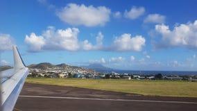 Vista da ilha de St Lucia do avião Imagem de Stock Royalty Free