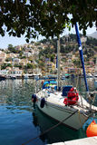 Vista da ilha de Symi Imagens de Stock Royalty Free