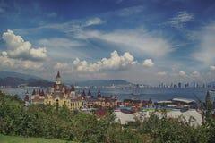 Vista da ilha de Vinpearl fotos de stock royalty free