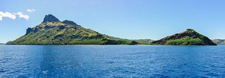 Vista da ilha de Waya Lailai em Fiji foto de stock royalty free