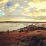 Vista da ilha do cramond Imagens de Stock