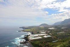 Vista da ilha Tenerife de cima de Fotos de Stock Royalty Free