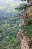 Vista da inclinação da montagem de Aj-Petri (Ucrânia) Foto de Stock Royalty Free